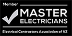 Master Electrician black and white logo